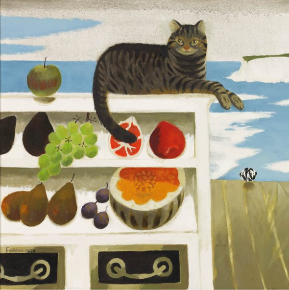 Cat and Fruit, Mary Fedden