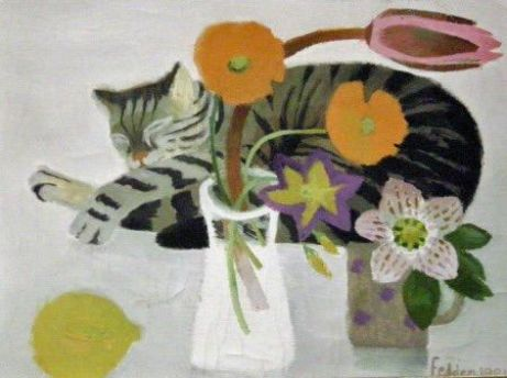 Cat and Jug, Mary Fedden