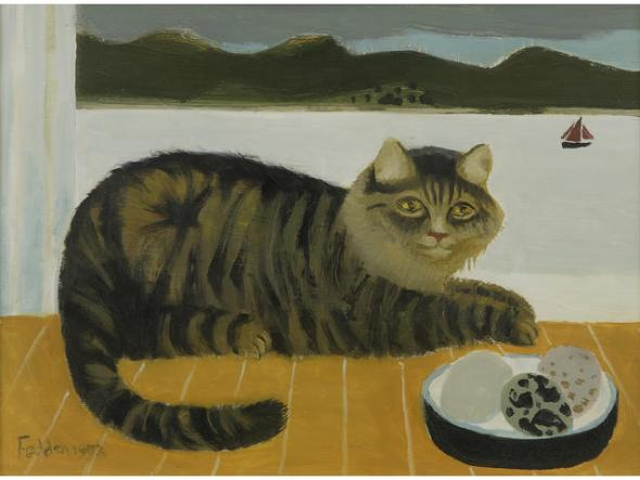 Cat and Sailboat, Mary Fedden