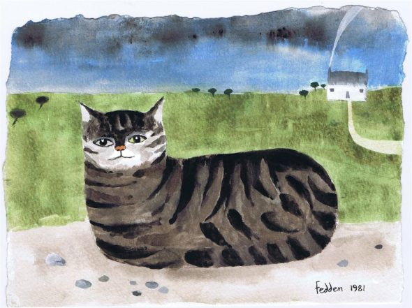 Cat in a Landscape, Mary Fedden