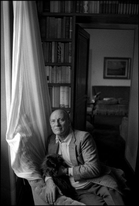 Italian Writer Raffaele LA CAPRIA with Cat, 1988 Ferdinando Scianna