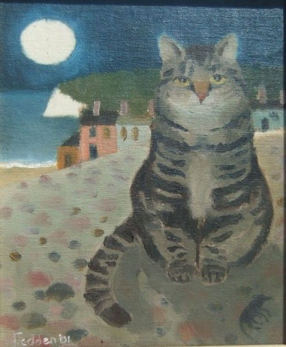Mary Fedden (1915-2012) - A Cat In Mousehole