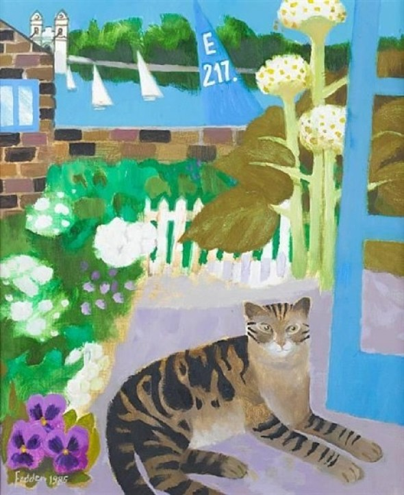 Tabby at the Wharf, Mary Fedden