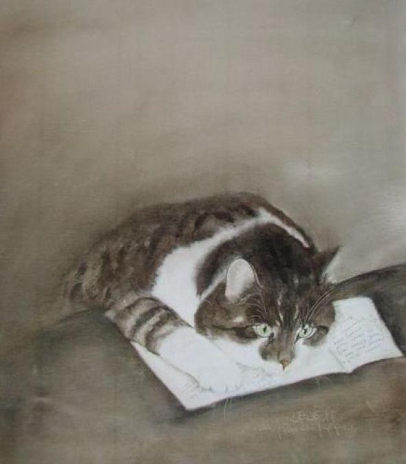 Cat on a Letter, Foujita
