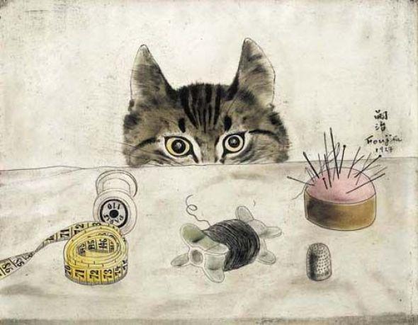 Couturier Cat, 1927, Leonard Foujita