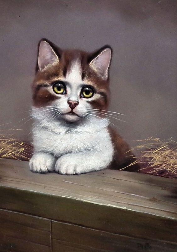 Ginger and White Kitten, Bessie Bamber