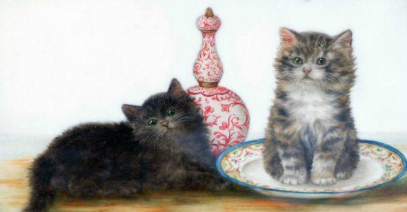 Kitten Sitting in a Bowl, Bessie Bamber