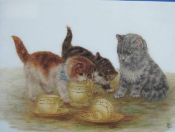 Kittens Drinking Milk, Bessie Bamber
