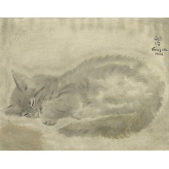 Sleeping Cat, Leonard Foujita, 1926