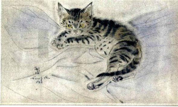 Tabby Kitten, Leonard Foujita