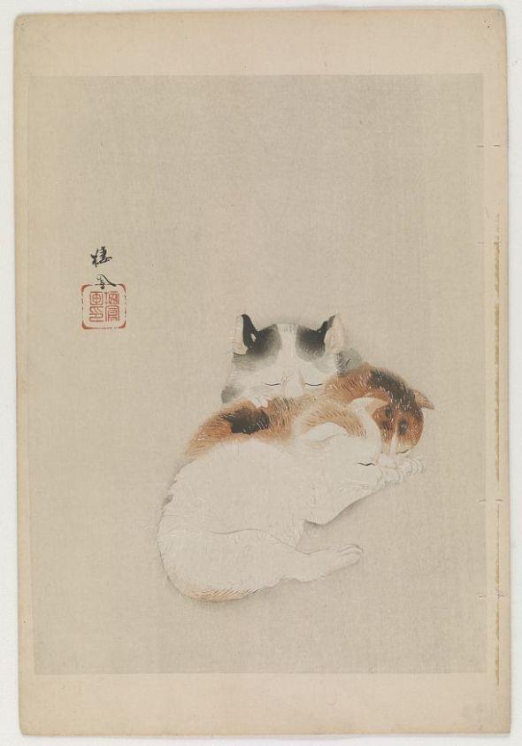 Takeuchi Seiho, Three Kittens