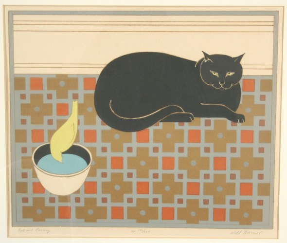 Cat and Canary Serigraph Will Barnet