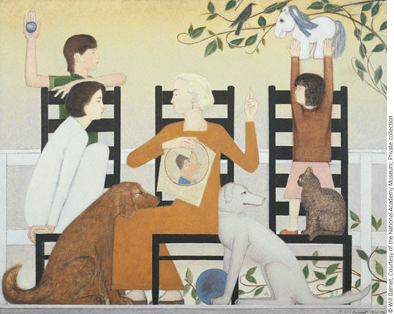 Three Chairs oil painting, 1991–92 Will Barnet
