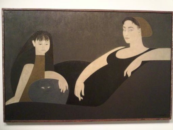 Will Barnet, Wife and Daughter with Cat
