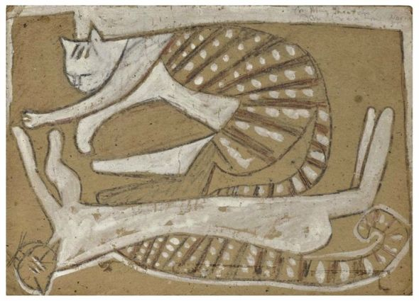 9-John Craxton (British, 1922-2009), Sleeping cats, 1955