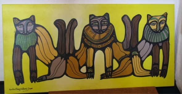 Carlos Paez Vilaro, Abstract Cats