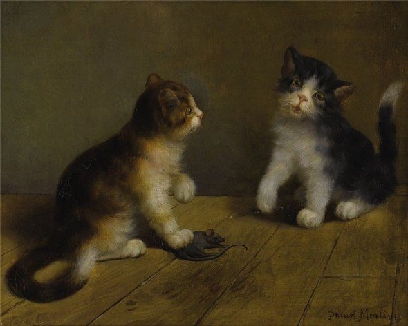 Two Kittens and a Dead Mouse Daniel Merlin private collection