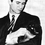 Anthony Perkins and cat, famous cat lovers