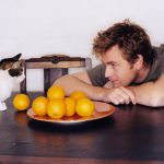 Ewan McGregor and cat