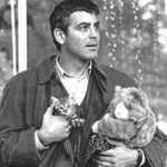 George Clooney and cat, famous cat lovers