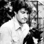 Michael Showalter and cat