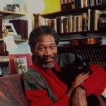 Morgan Freeman and cat, famous cat lovers