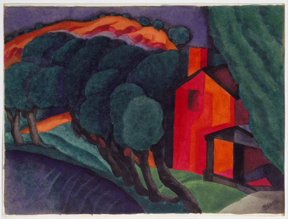 Painting by Oscar Bluemner