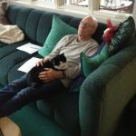 Patrick Stewart and cat, famous cat lovers