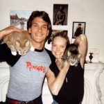 Patrick Swayze and cat, famous cat lovers
