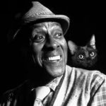 Scatman Crothers and cat, famous cat lovers