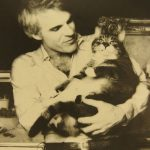 Steve Martin and cat