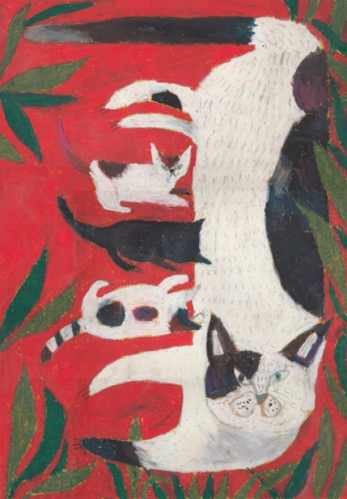 Miroco Machiko, Cat and Kittens