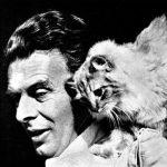 Adolus Huxley and cat
