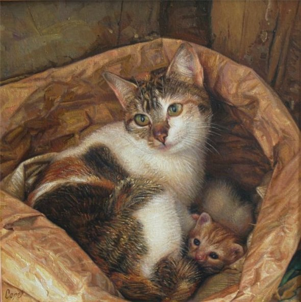 Antonio Guzman Capel-4, cats in art