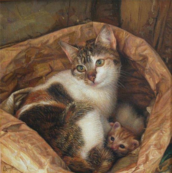 Antonio Guzman Capel-4, cats in art
