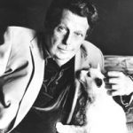 Cleveland Amory and cat, famous cat lovers-writers