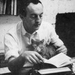 Frank O'Hara and cat