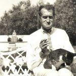 Gerrit Komrij and cat