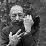 Igor Stravinsky and cat 2