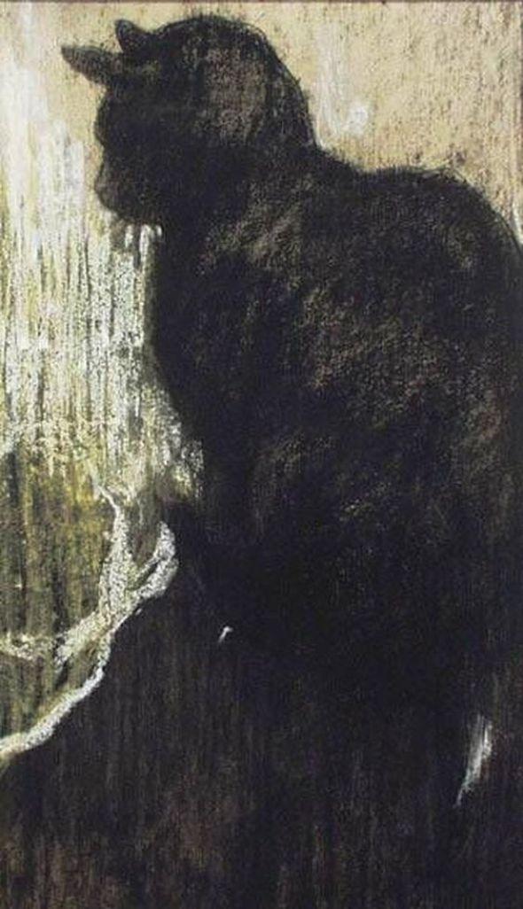Jacobus van Looy (Dutch, 1855-1930) Black Cat, Jacobus van Looy