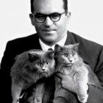 João Guimarães Rosa and cat