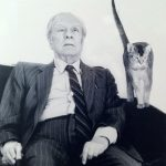 Jorge Luis Borges. Argentine writer. 1899-1986 and cat