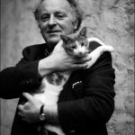 Joseph Brodsky with Mississippi his cat