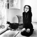 Joyce Carol Oates and cat