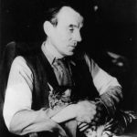 "Louis-Ferdinand Céline with his cat ""Mea Culpa"""