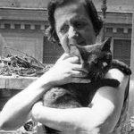 María Zambrano and cat