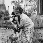 Mary Stewart and cat
