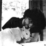 Neil Gaiman with cat