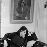Patricia Highsmith with cat