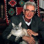 René Barjavel with cat